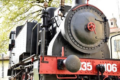 In de dag Spoorlijn locomotiva