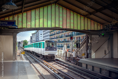 Wall mural Metro station in Paris