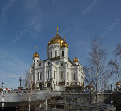 Fotobehang Moskou The Cathedral of Christ the Saviour in Moscow
