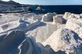 Mineral formations on the coast of Milos island (Moon landscape) Aegean sea, Greece. - 199842388