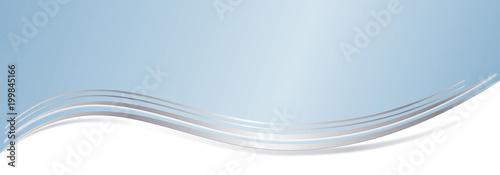 Blaue Silber Wellen Linie Banner modern
