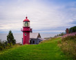 red lighthouse in Gaspe, Quebec