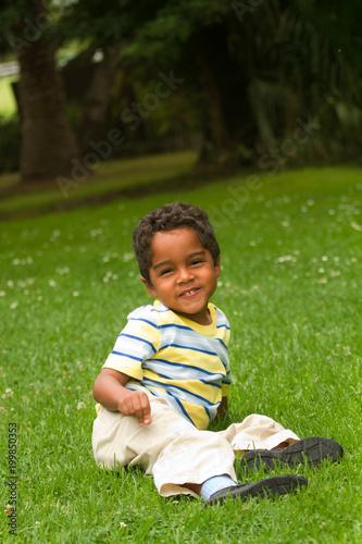 Cute little hispanic boy.