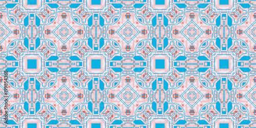 Niebieska róża bez szwu techno wzór linii. Futurystyczny tło geometrii. Laserowa tekstura techniczna.
