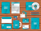 corporate company advertising set elements vector illustration design - 199873352