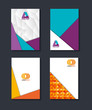 material design lines set covers backgrounds vector illustration