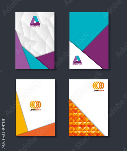 material design lines set covers backgrounds vector illustration - 199873581