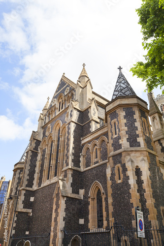 Fotobehang Londen 12th century gothic style Southwark Cathedral, London, United Kingdom