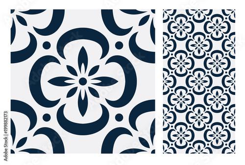 vintage tiles patterns antique seamless design in Vector illustration - 199882173