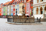 Proserpine Fountain XVIIIc and medieval houses on the central market square in Poznan, PolandPoznan, Poland