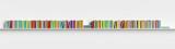 Multicolored books on a shelf - 199899744