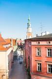 street leading the central market square in Poznan, PolandPoznan, Poland