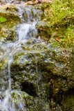 Miniwaterfall in forest