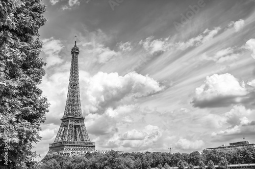 Canvas Eiffeltoren Panoramic view of Eiffel tower