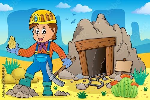 Poster Voor kinderen Miner theme image 2