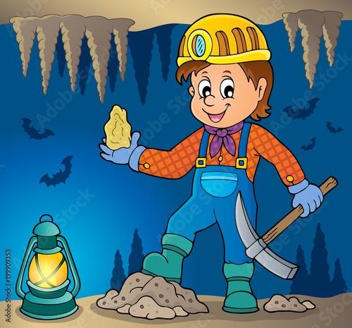 Poster Voor kinderen Miner theme image 3