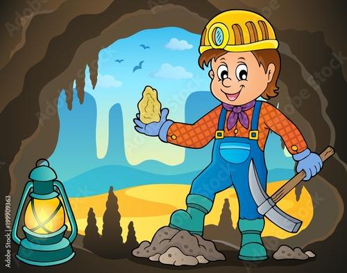 Poster Voor kinderen Miner theme image 4