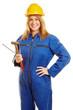 Frau als Arbeiter im Blaumann - 199914937
