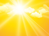 sunshine sky, abstract yellow clouds background