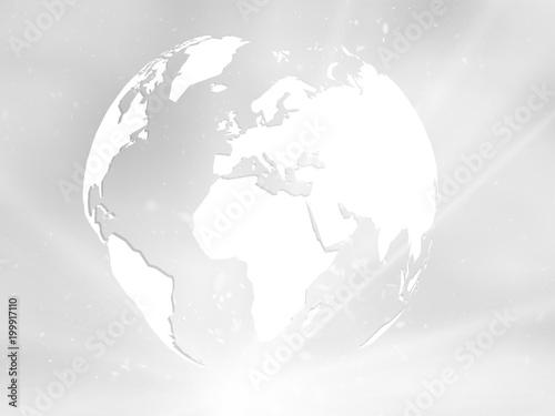 planeta ziemia z gwiazda na szarym tle