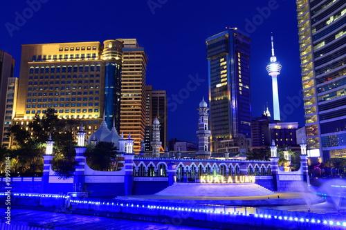 Plexiglas Kuala Lumpur Kuala Lumpur at the night, Malaysia