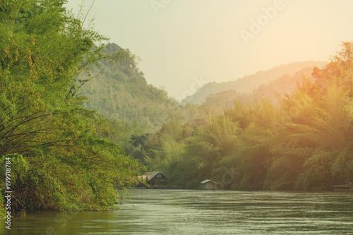 Trip at the River Kwai. Kanchanaburi Thailand.