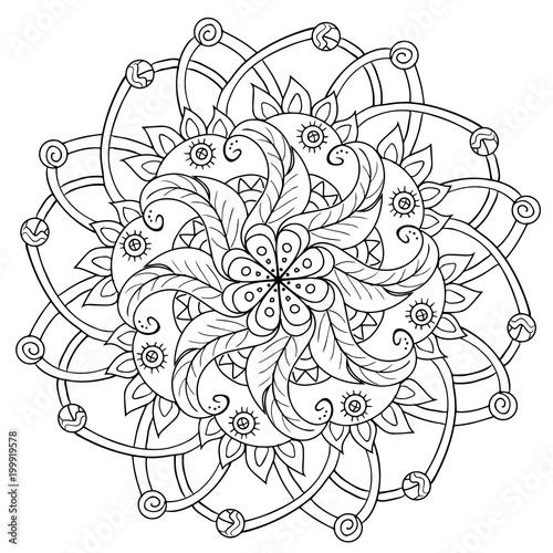 Fototapeta decorative floral mandala