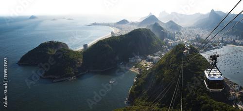 Rio de Janeiro city skyline view from Sugarloaf mountain, Brazil