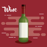wine bottle drink icon vector illustration design - 199923772