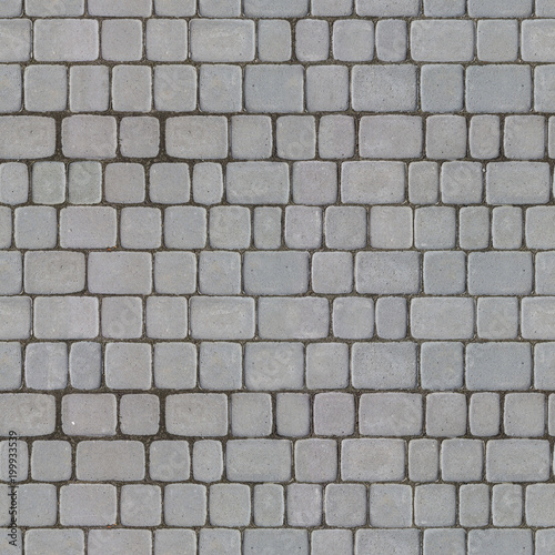 Seamless Tileable Texture of Gray Paving Slabs. - 199933539