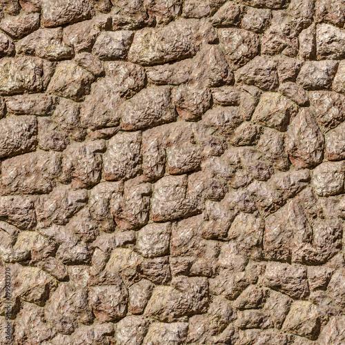 Staande foto Stenen Rock Stone Wall. Seamless Tileable Texture.