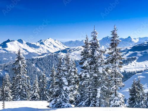 Zimowy krajobraz w Alpach