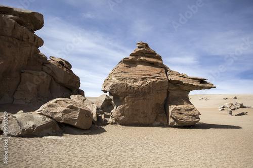 Rock formations of Dali desert in Bolivia - 199938729