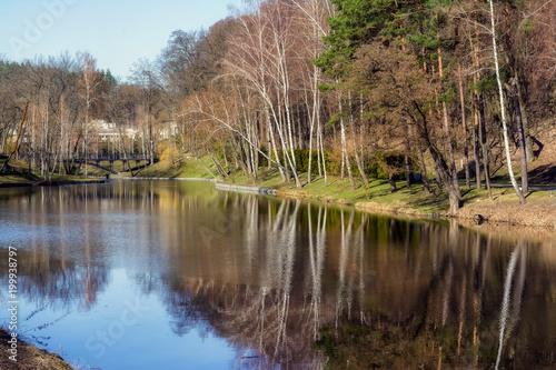 Foto op Plexiglas Kiev Park Mezhyhirya - private residence of ex-president Victor Yanukovich. Novi Petrivci, Ukraine