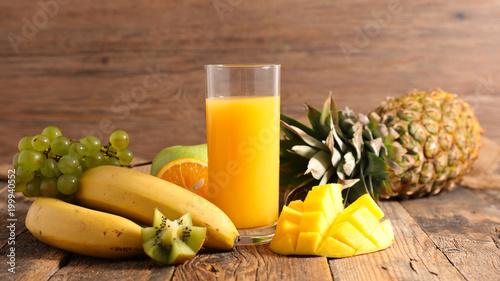Foto Murales fruit juice and ingredient