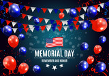 Memorial Day in USA Background Template Vector Illustration - 199947119