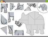 jigsaw puzzle game with elephant animal