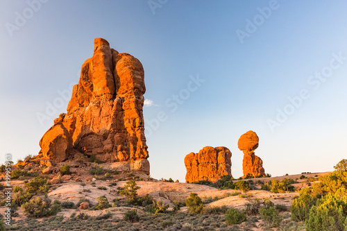 Balanced Rock in Arches National Park in Utah USA - 199951963