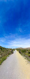 The green way of Lucainena under the blue sky in Almeria