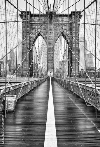 mata magnetyczna Brooklyn bridge of New York City