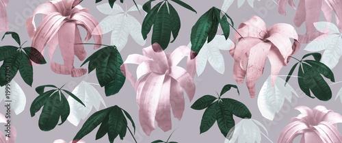 Foto Murales Tropical leaves 01