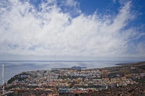 Fotobehang Canarische Eilanden View on a landscape in Morro Jable, Fuerteventura, Spain.