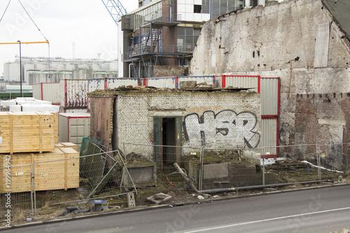Fotobehang Oude verlaten gebouwen Industrie Vlaardingen