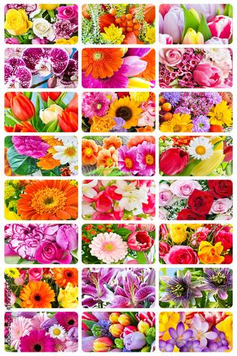 Aluminium Gerbera Flowers - Collage