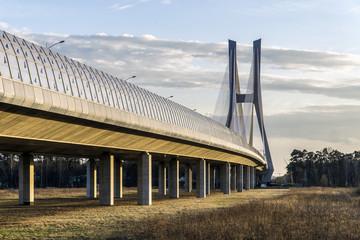 Rędziński Bridge over Odra river in Wrocław, Poland