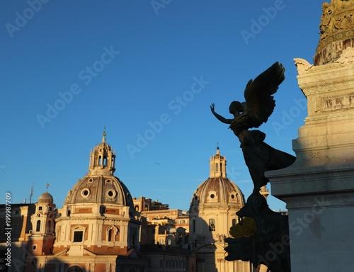 Rzeźbi piazza Venezia Rzym Włochy
