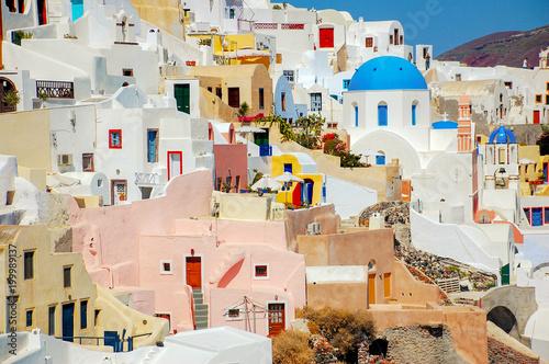 Tuinposter Santorini Oia Houses