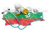Healthcare in Bulgaria concept, 3D rendering - 200001317
