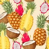 Tropic fruits seamless - 200001321