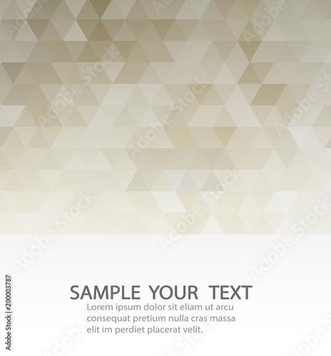 Beżowy szablon tło z szarym trójkąty